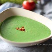 西兰花培根奶油浓汤的做法