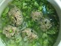 肉丸西兰花鲜汤的做法