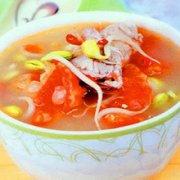 西红柿豆芽猪骨汤的做法