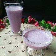 紫薯花生炼乳汁的做法
