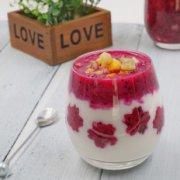 火龙果酸奶思慕雪的做法