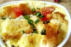 杂蔬全麦面包咸布丁的家常做法