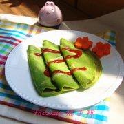 幼儿食谱 青菜煎饼的做法