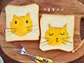 卡通猫咪面包片的做法