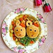咖喱小兔面包的做法