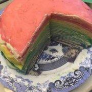 彩虹千层蛋糕的做法