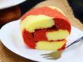 彩色条纹蛋糕卷的做法