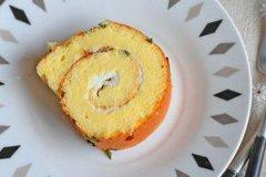 香葱肉松蛋糕卷的家常做法