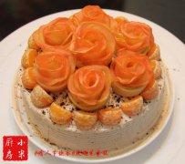 玫瑰花奶油蛋糕的家常做法