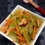 小龙虾仁炒时蔬的做法