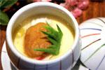 松叶蟹肉海胆蒸蛋的做法视频